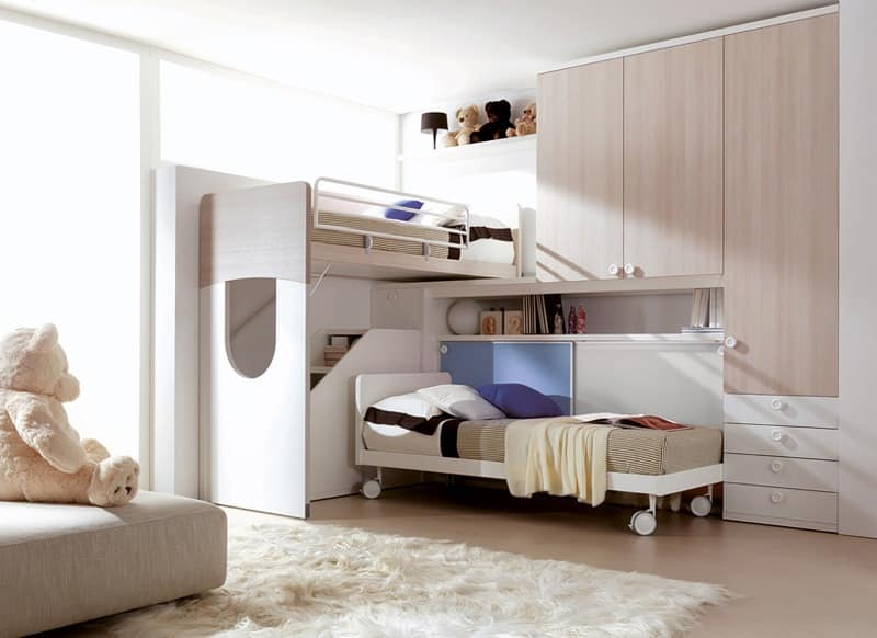 Comp. 403, Furniture for childern bedroom in many colors ennobled