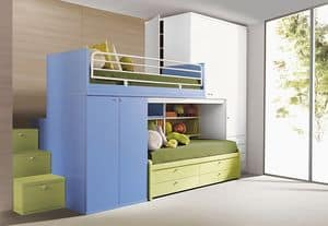 Picture of Comp. 406, modular bedroom for children