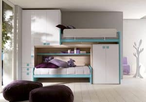 Picture of Comp. 408, modular furniture systems for kids' bedroom