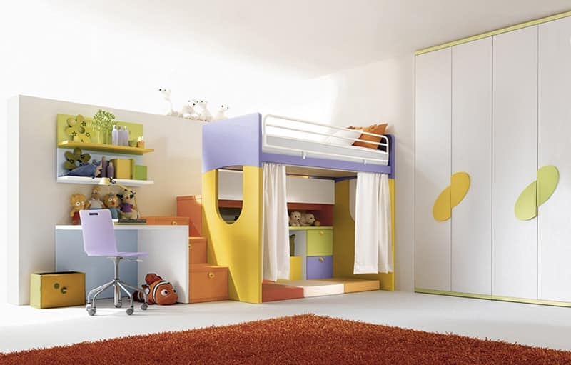 Comp. 902, Furniture for sleeping area for customizable boys room