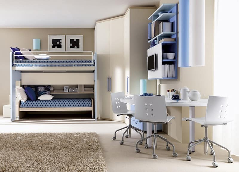 Comp. 906, Solution for children's room, angular configuration