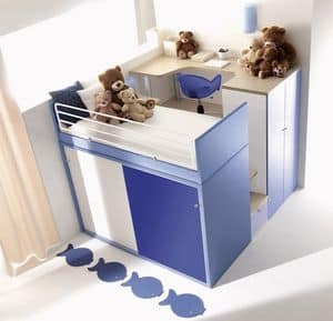 Picture of Comp. 909, modular furniture systems for kids' bedroom