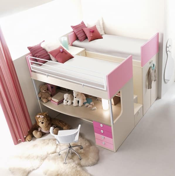Comp. 910, Bedroom for children, solidity and reliability