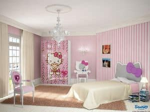 Picture of Hello Kitty Romantic, compact kids' bedroom