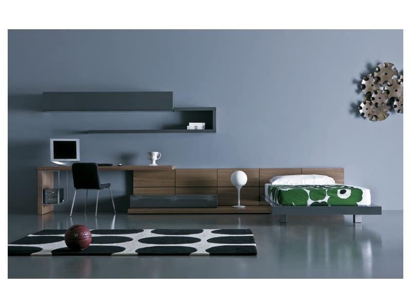 Complete furniture for children 39 s bedroom idfdesign for Modular bedroom furniture systems