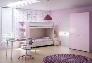 Loft bed KS 201, Children's loft bed with an innovative design