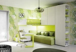 Loft bed KS 204, Loft bed with high safety standards