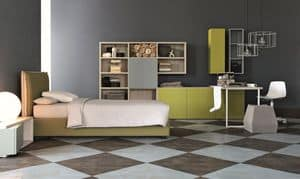 Comp. New 149, Furniture for children's rooms, elegant geometries