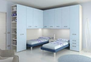 Ponte KP 111, Bedroom for children, with 2 beds and integrated lights