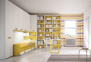 Bridge KP 207, Modern children bedroom with peninsula desk