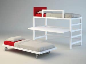 Picture of Solid wood Bunky 02, furniture solution for kids' bedroom