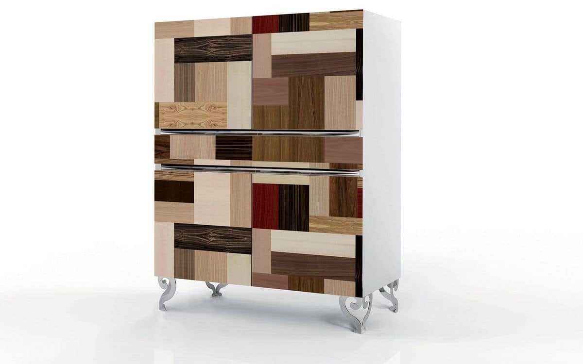 Vertical sideboard precious doors with handmade cover for Sideboard quadra