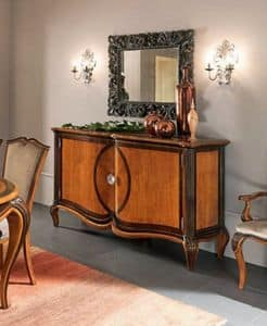 Bourbon Art. 25.202, Classic dresser with inside drawers and 2 doors