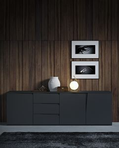 VELA sideboard comp.01, Contemporary design sideboard, with drawers and doors