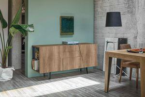 VERSUS 166 MA100, Elegant sideboard with two doors