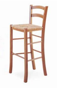 Paesana-A B, Rustic stool, with straw seat