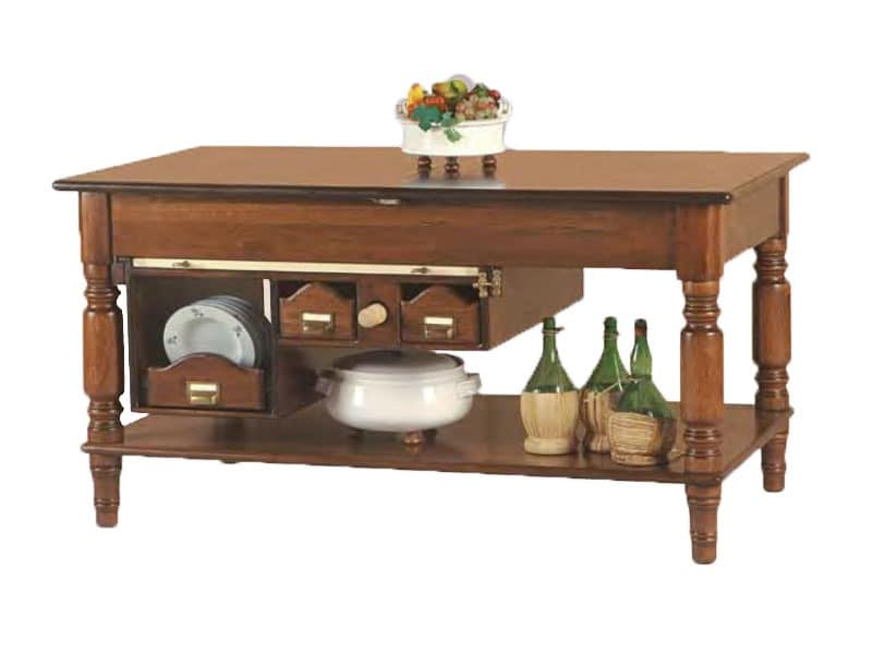 Island Table With Storage Under The Top Idfdesign