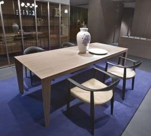 Brando, Modern wooden table suited for kitchens or dining rooms