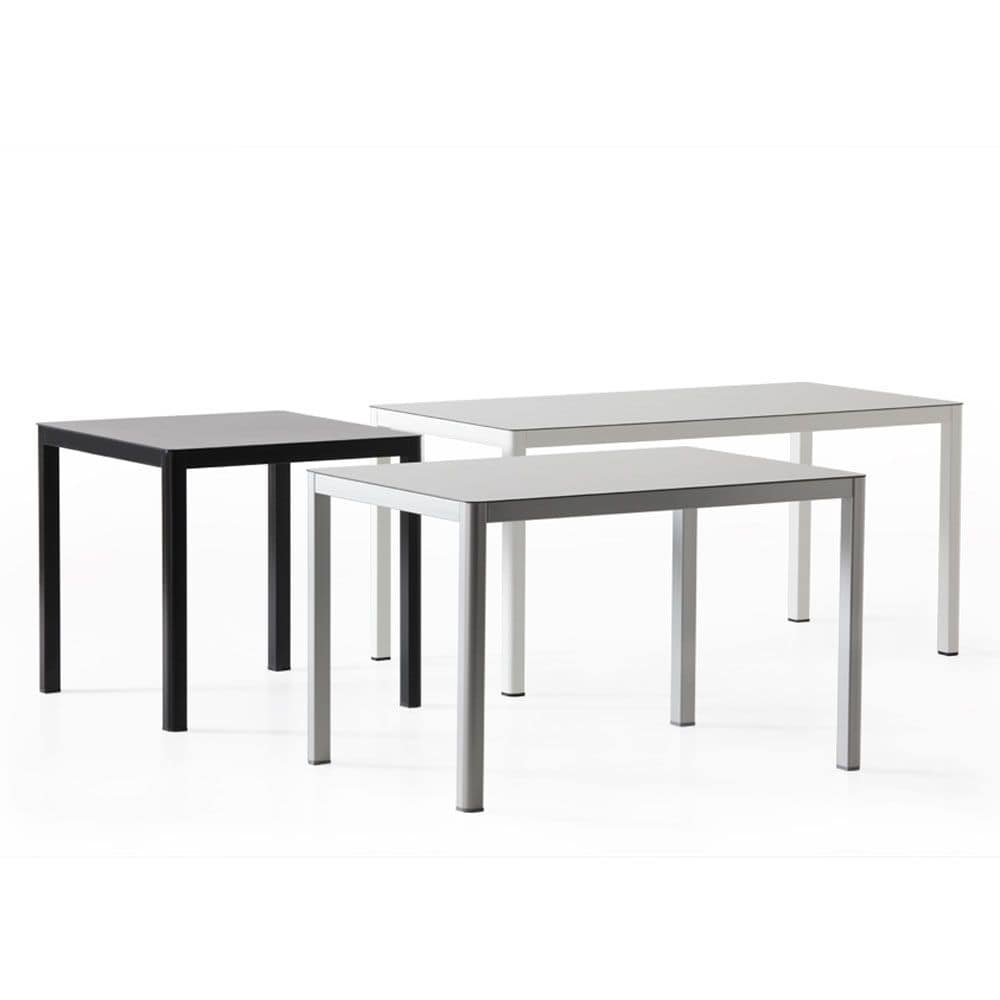 Metal table with hpl top contemporary line idfdesign for Table 80x120