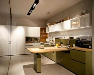 Banco Buffet, Modular kitchen with shelves, drawers, sinks, refrigerators