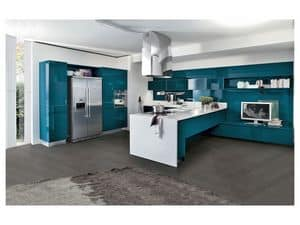 Picture of Bring 6 petrolio, linear kitchens