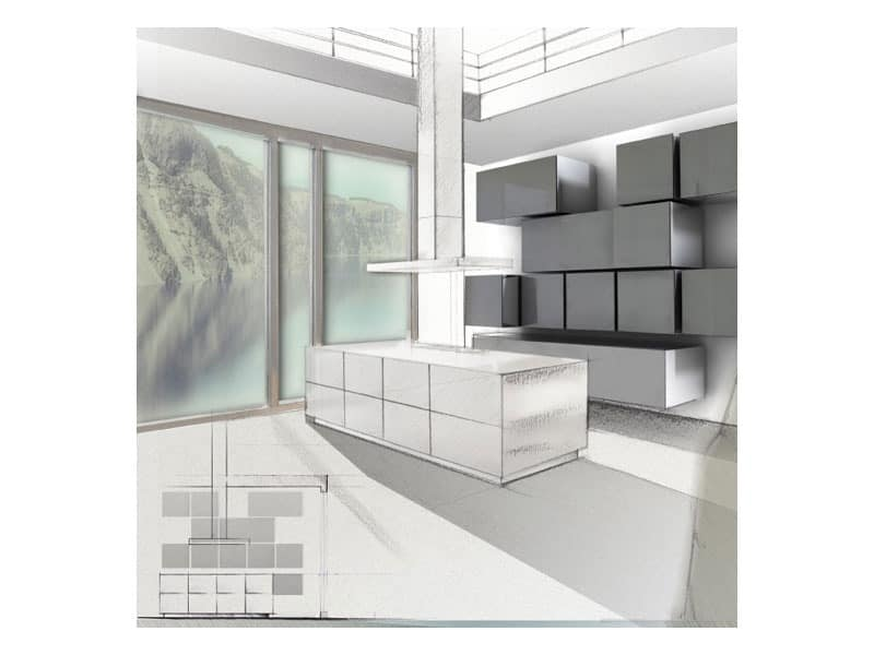 Trealcubo comp.06, Kitchen cabinets Modern house