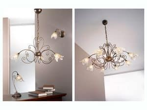 Picture of Barocco suspended lamp, elegant lamps