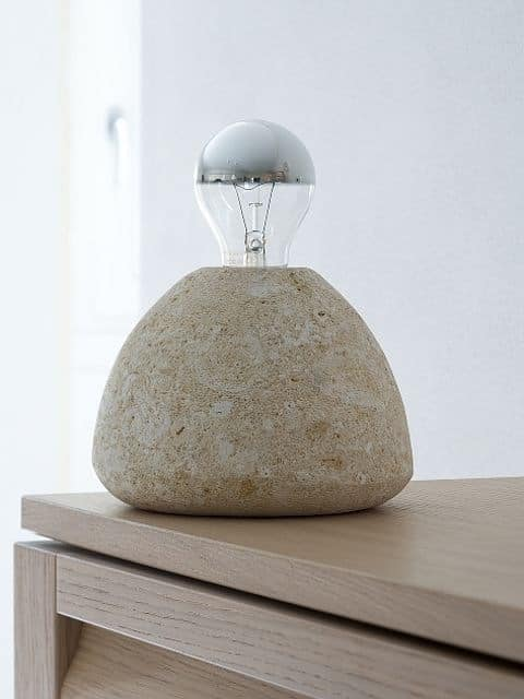 Bulb, Floor lamp, in stone, for the study and the house