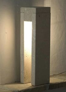 Oso, Floor lamp made of stone, incandescent light
