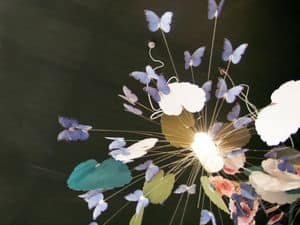 Picture of P151FOx215 Fantasy Leaves Butterflies, chandelier