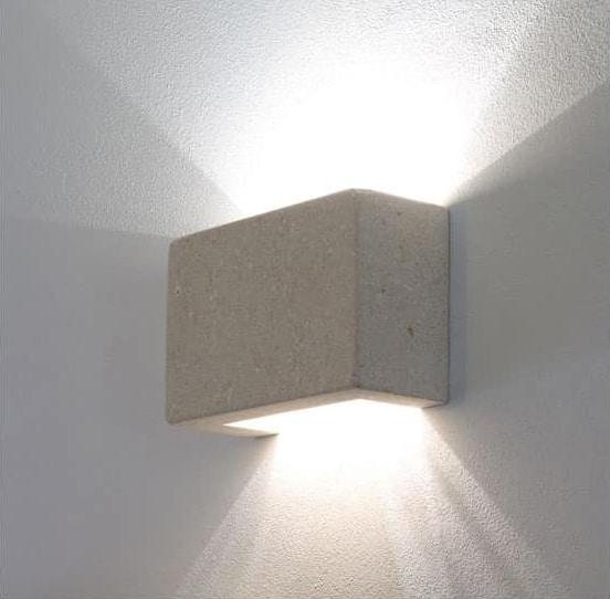 Quadra, Wall lamp made of stone