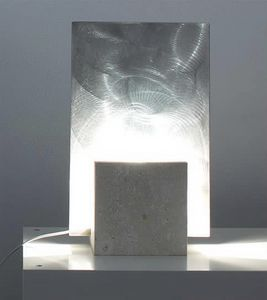 Reflex Steel, Floor lamp made of stone, square shape