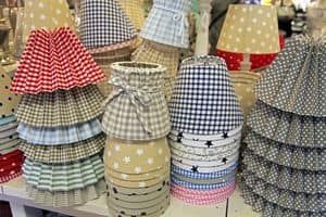 Customized lampshade 06, Lampshades available in a variety of fabrics, handcrafted