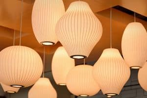 Lampshade for ceiling lamp 04, Lampshades in paper, with customizable shapes