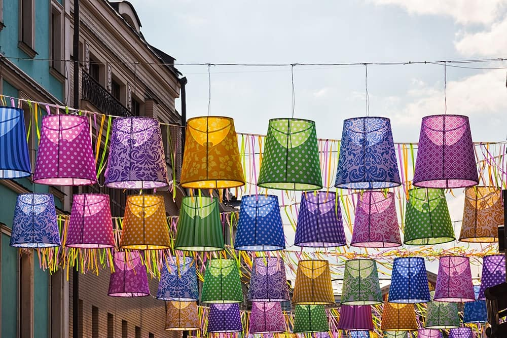 Lampshade For Hanging Lamp 08, Colorful Lampshades, Available With  Different Decorations