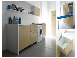 Picture of Idrobox 03, modular furnishing system for laundry