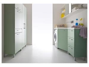 Picture of Idrobox 13, compact furnishing solutions for laundry
