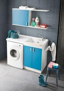Picture of W-machine, cabinet for laundry