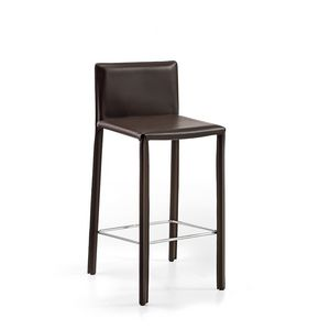 Agata SG low, Leather barstool essential for Restaurants and home