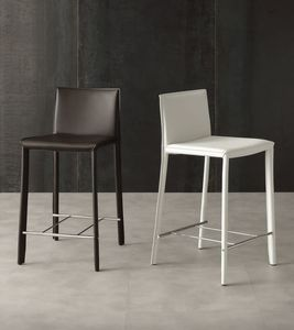 Art. 577 Cathy SG, Stool for kitchen and hotel, in regenerated leather