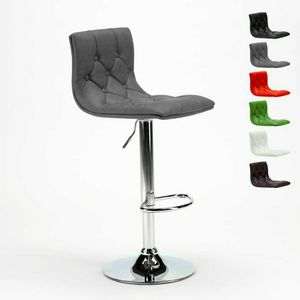 Chesterfield faux leather kitchen and bar stool Design HONOLULU - SGA800HON, Swivel stool in imitation leather