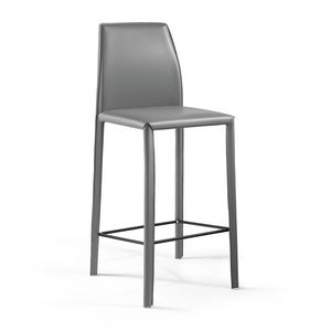 Moa SG, Barstool for bar counter, in leather