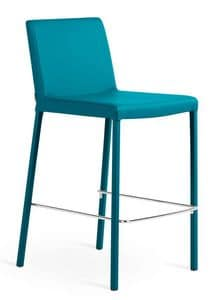 NOVIS SG65, Stool in metal and eco-leather, in various colors