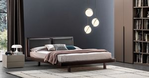 REN�, Bed with headboard made of eco leather