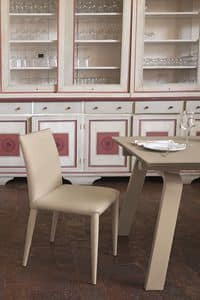 BERNA SE609, Leather chair suited for bars and kitchens