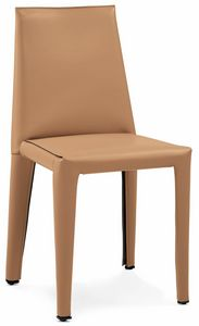 Picture of Dab chair 10.0150, chair upholstered in leather