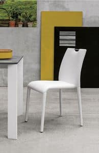 FRIBURGO SE611, Chair completely covered in soft-touch, modern style