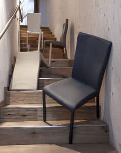 Picture of Jody, metal-and-leather-dining-chair