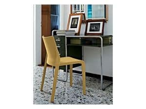 Picture of Lisbona, metal and leather dining chairs