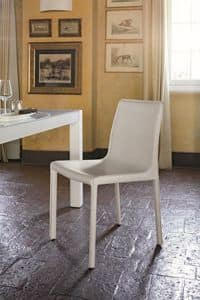 MARSIGLIA SE607, Modern upholstered chair suited for bar and dining rooms